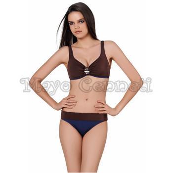 Sunset toplayıcı bikini - kahverengi