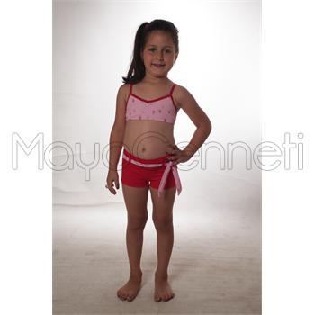 Sunsurf şortlu yüzücü kız çocuk bikini - pembe
