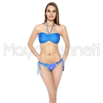 Sunset straplez bikini - saks mavi