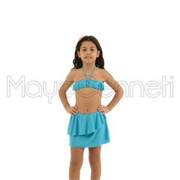 2014 AZRA Straplez Etekli Kız Çocuk Bikini