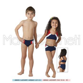 2014 SUNSET Yüzücü Şortlu Kız Çocuk Bikini
