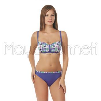 Sunset toplayıcı bikini - mavi