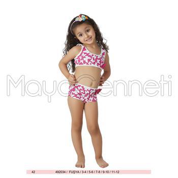 2014 SUNSET Parlak Şortlu Kız Çocuk Bikini