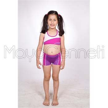 2014 DAGİ Yüzücü Şortlu Kız Çocuk Bikini