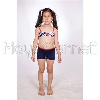 2014 DAGİ Straplez Şortlu Kız Çocuk Bikini