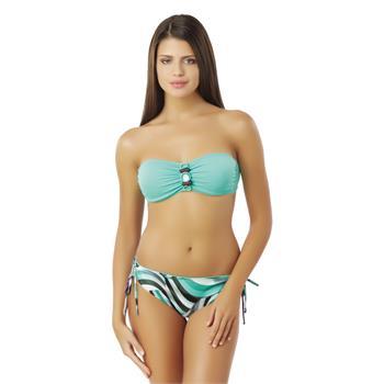 Sunset straplez bikini - yeşil