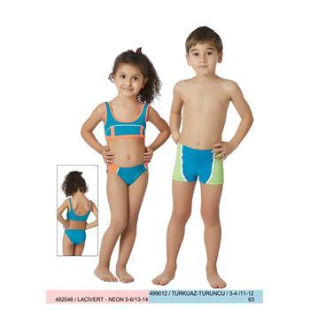 Sunset yüzücü kız çocuk bikini - mavi