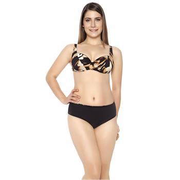 Sunset balenli leopar bikini - siyah