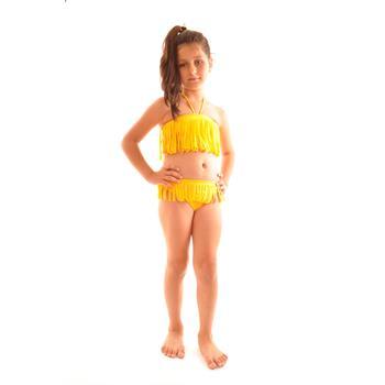 Reyna straplez kız çocuk bikini - fosforlu sarı