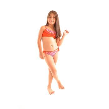 Dagi geniş üçgen kız çocuk bikini - oranj