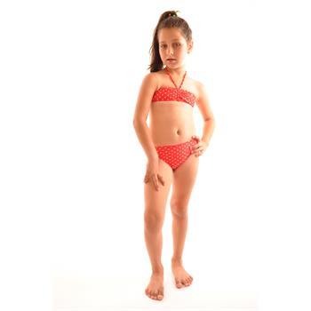 Reyna straplez kız çocuk bikini - kırmızı