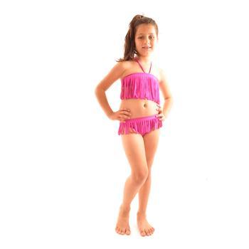 Reyna straplez kız çocuk bikini - fuşya