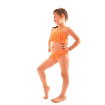Reyna straplez kız çocuk bikini - fosforlu turuncu