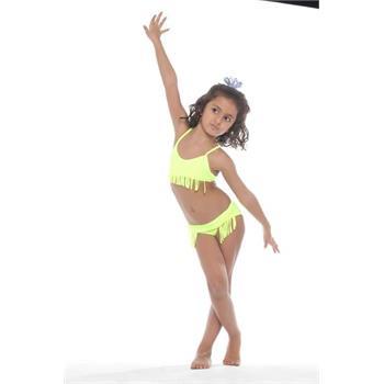 Sunset kız çocuk bikini - fosforlu pembe