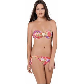 Sunset straplez çıkabilen silikonlu bikini - turuncu