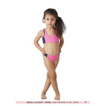 Sunset yüzücü kız çocuk bikini - lacivert