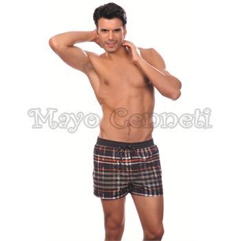 Dagi lastikli erkek şort mayo - siyah