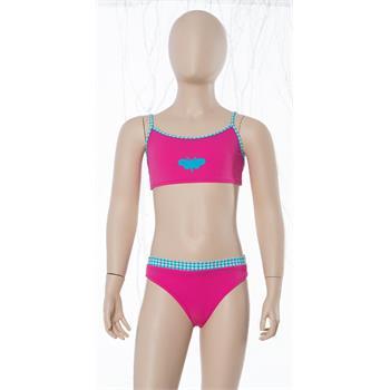 Sunsurf klasik kap kız çocuk bikini - pembe
