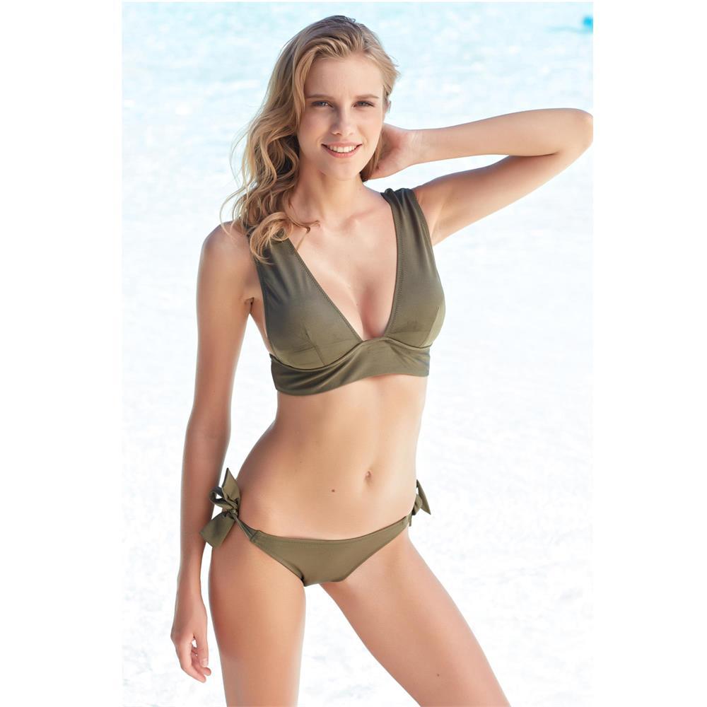 567420e8c6 Pierre cardin geniş üçgen bikini - gold U11300026 | MayoCenneti.Com