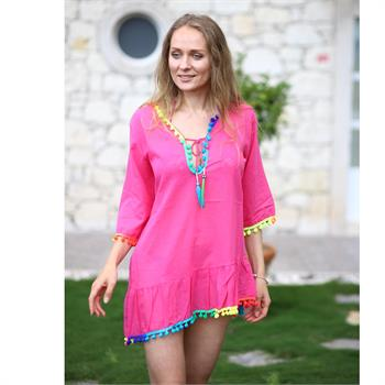 Lev & end pamuklu tunik - pembe